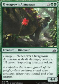 Overgrown Armasaur - Rivals of Ixalan