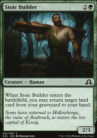 Stoic Builder - Shadows over Innistrad