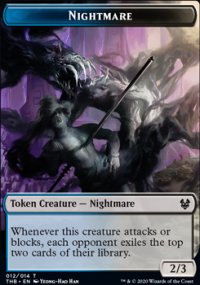 Nightmare Token - Theros Beyond Death