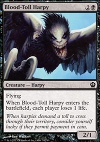 Blood-Toll Harpy - Theros