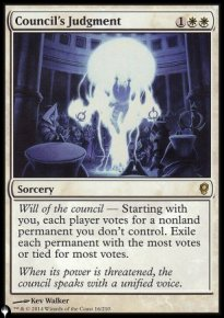 Council's Judgment - The List