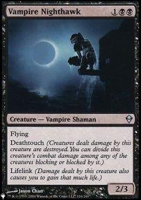 Vampire Nighthawk - The List