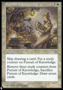Pursuit of Knowledge - The List
