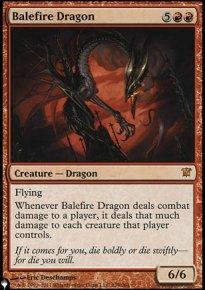 Balefire Dragon - The List