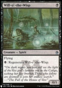 Will-o'-the-Wisp - The List