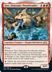 Stet, Draconic Proofreader - Unsanctioned