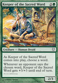 Keeper of the Sacred Word - Unhinged