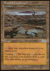 Blasted Landscape - Urza's Saga