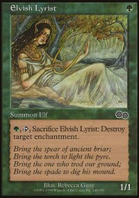 Elvish Lyrist - Urza's Saga