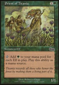 Priest of Titania - Urza's Saga
