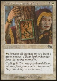Rune of Protection: Green - Urza's Saga