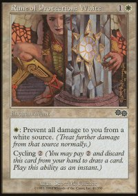 Rune of Protection: White - Urza's Saga