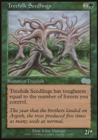 Treefolk Seedlings - Urza's Saga