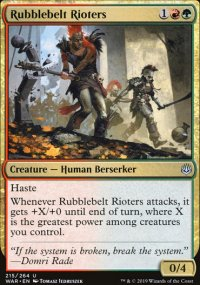 Rubblebelt Rioters - War of the Spark