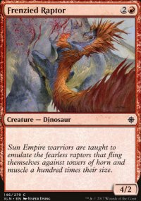 Frenzied Raptor - Ixalan