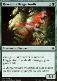 Ravenous Daggertooth - Ixalan