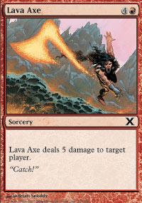 Lava Axe - 10th Edition