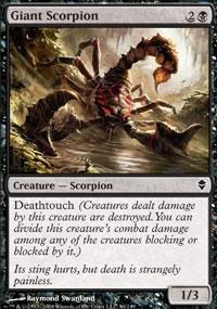 Giant Scorpion - Zendikar