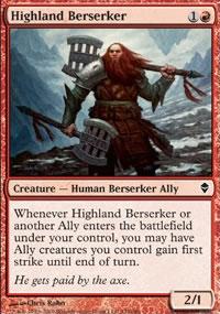Highland Berserker - Zendikar