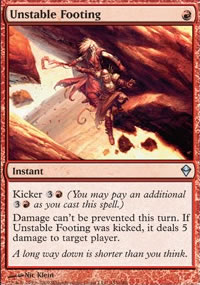 Unstable Footing - Zendikar