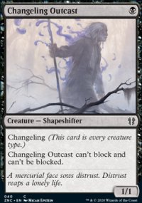 Changeling Outcast - Zendikar Rising Commander Decks