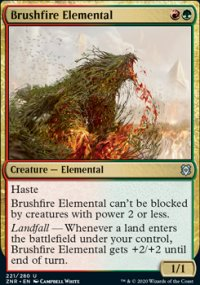 Brushfire Elemental 1 - Zendikar Rising